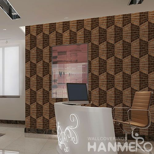 HANMERO Modern European Style Wallcovering Manufacture Natural Stone Textured 3D 1.06M Wallpaper for Study Room Office Factory Price