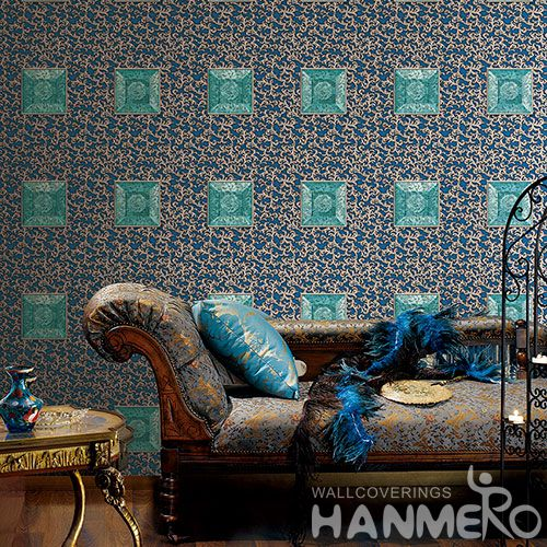 HANMERO Best Selling Luxury Design Wallpaper Geometric Pattern 1.06M 3D PVC Wallcovering for Interior Wall Designer