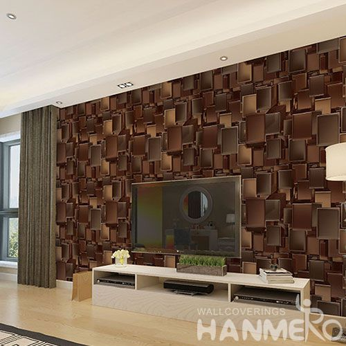 HANMERO Germetric Design New Fashion PVC 1.06M 3D EFFECT Wallpaper for Living Room Bathroom Wall Manufacturer Designer from China
