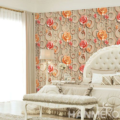 HANMERO Chinese Affordable Luxury Floral 3D Wallpaper Modern Fashion Style for Household Decoration Factory Sell Directlly