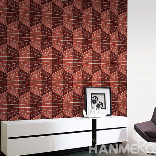HANMERO Natural Material New Style 3D Brick Wallpaper Stone Textured for Bedroom House Decorative with Best Prices and CE Certificate