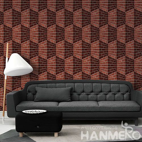 HANMERO Newest Chinese Modern Style PVC 1.06M 3D Wallpaper Stone Textured for Bedroom House Decorative Top-grade Quality