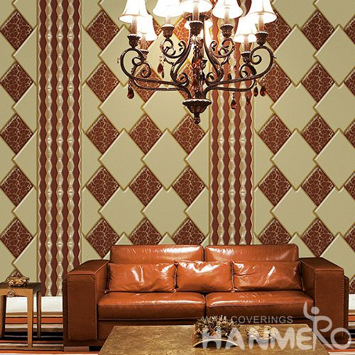 HANMERO Office Study Room Decorative 3D Wallcovering Chinese Factory Hot Sex Nature Sense 1.06M PVC Wallpaper for Sofa TV Background