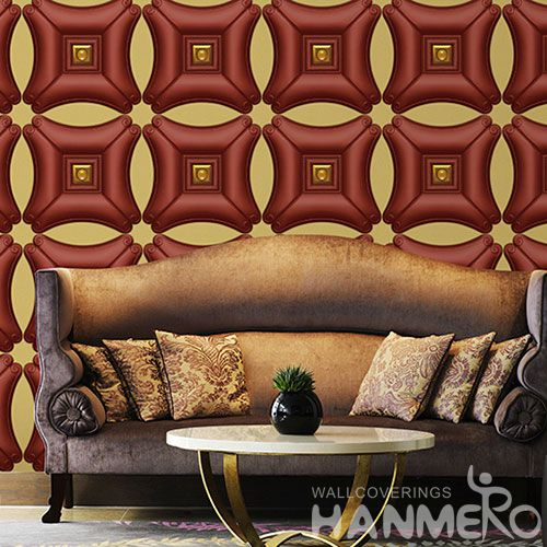 HANMERO 1.06M Korea Latest Unique Germetric 3D PVC Wallpaper with Top-grade Quality Sofa Background Wall Decor from Chinese Dealer