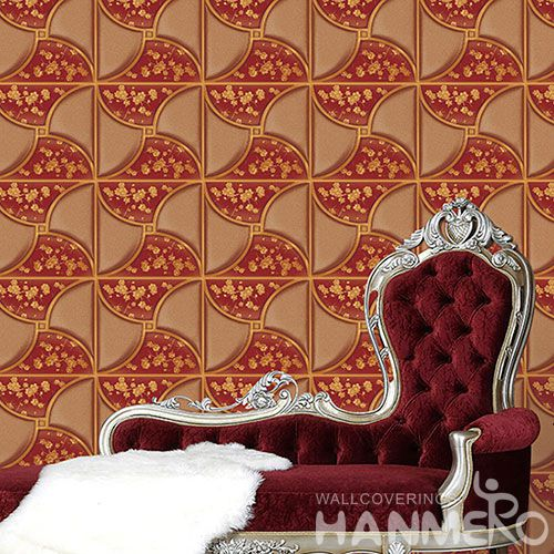 HANMERO 3D Germetric 1.06M PVC Wallpaper for House Home Decoration from Chinese Manufacturer Superior Quality Best Prices