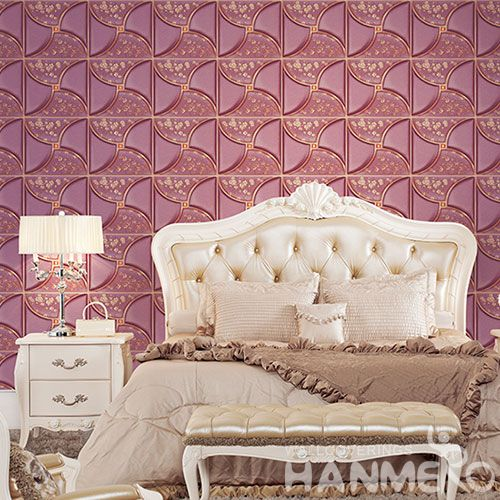 HANMERO Modern New Arrival 3D PVC 1.06M Wallpaper Germetric Pattern for Sofa Background Wall Design Wallcovering Chinese Dealer