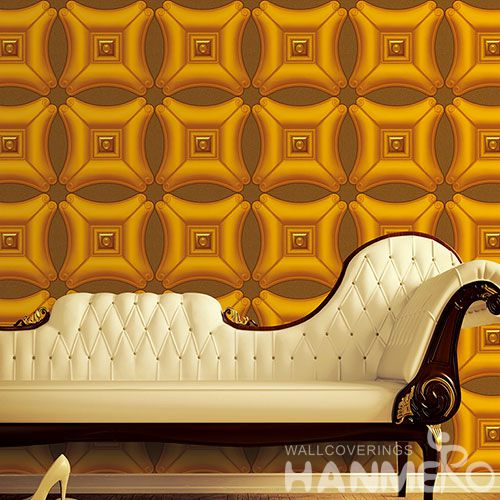 HANMERO 3D Modern New Style Golden Decorative PVC 1.06M Wallpaper for Interior Household Wall Designer from Chinese Wholesaler