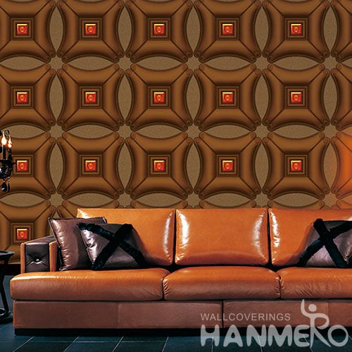 HANMERO Removable Household Decor 3D PVC 1.06M Wallpaper with Beautiful Designs and Excellent Quality from Chinese Factory
