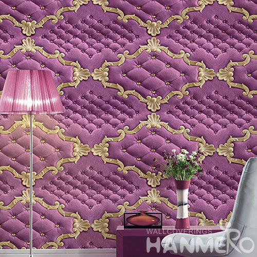 HANMERO Factory Price Hot Selling Latest Sofa Background 3D Wall Paper PVC 1.06M Korea Design from Chinese Supplier Modern Style