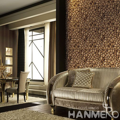 HANMERO Chinese Newest Fancy Stone Design 3D Wallcovering PVC 1.06M Wallpaper for Hotel Nightclub Wall Decor Best Selling
