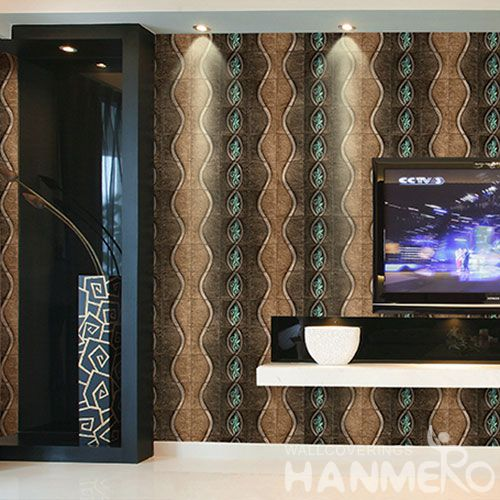 HANMERO Interior TV Background Wallcovering PVC 1.06M 3D Wallpaper Natural Material from Chinese Factory Competitive Prices