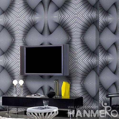 HANMERO New Style Exported Germetric 3D PVC 1.06M Wallpaper Living Room Office Decorative with Best Prices and CE Certificate