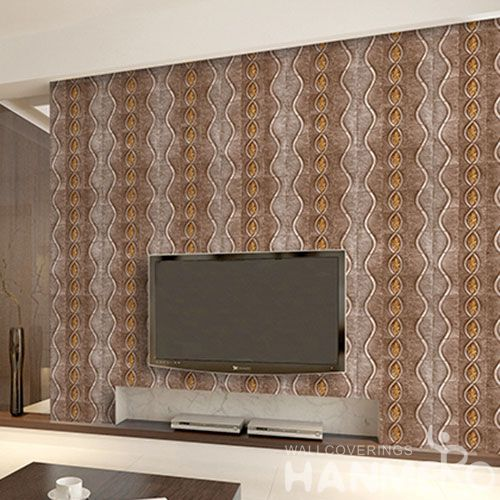HANMERO PVC 1.06M Luxury Special Design Korea Wallpaper in Brown Color for Room Wall Decoration Professional Manufacturer