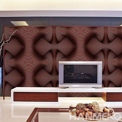 HANMERO Modern Germetric Pattern Removable Chinese Supplier 3D Wallpaper PVC 1.06M Korea Design for Cozy Home Decoration