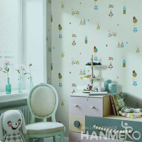 HANMERO Chinese Strippable PVC 0.53 * 10M Children Bedroom Wallpaper Modern Cartoon Design Wall Decor Best Selling