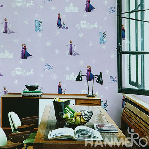 HANMERO Removable Chinese Supplier 0.53 * 10M PVC Wallpaper Cozy Color for Home Kids Room Decoration Chinese Factory