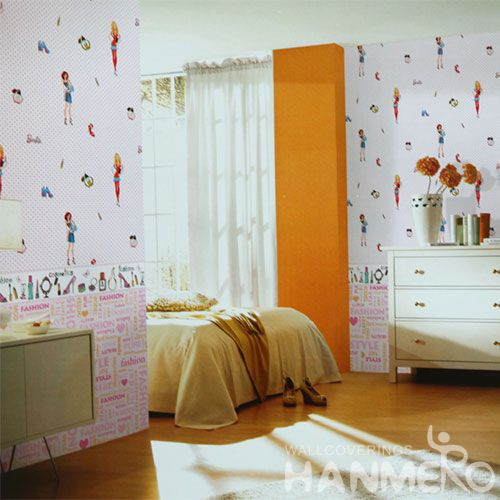 HANMERO 0.53 * 10M PVC Cartoon Children Designer Wallpaper Wallcovering Distributors Hot Sex Professional Factory
