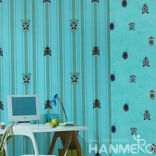 HANMERO Removable Eco-friendly 0.53 * 10M PVC Kids Designer Wallpaper Chinese Exporter for Interior Home Decoration