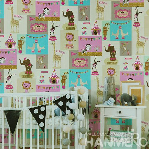 HANMERO Affordable Hot Selling 0.53 * 10M PVC Animated Wallpaper Kids Room Wallcovering Competitive Prices Chinese Dealer