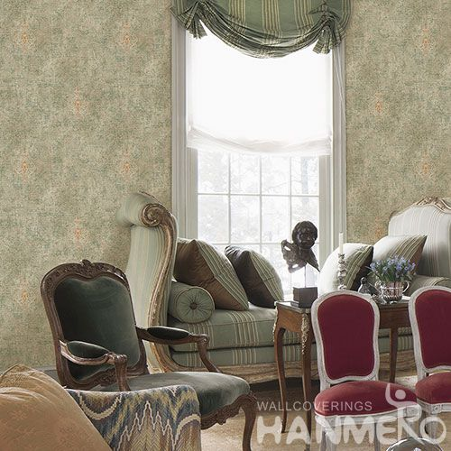 HANMERO Removable European Style 0.53 * 10M Non-woven Embroidery Wallpaper Cozy Home Living Room Bedroom Decoration from China Exporter