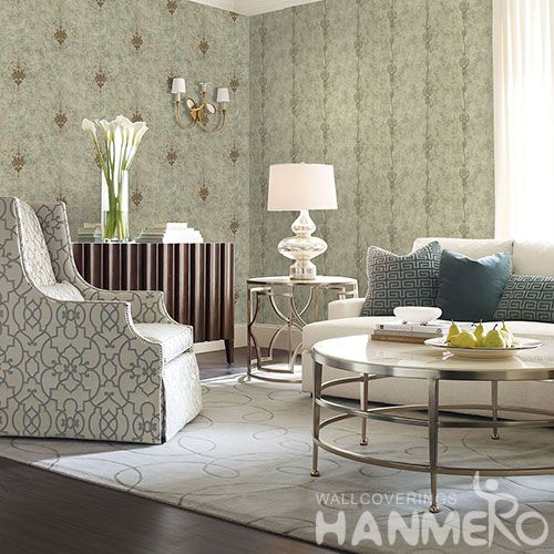 HANMERO Eco-friendly Luxury Home Decoration Wallcovering Non-woven Embroidery Wallpaper with Wholesale Price High Quality