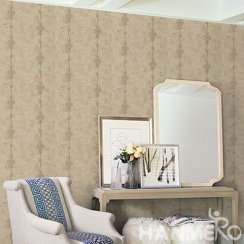 HANMERO China Modern European Design 0.53 * 10M Non-woven Embroidery Wallpaper Room Wall Decor Wallcovering Wholesale Prices