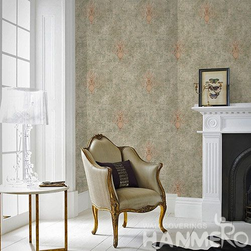 HANMERO Modern Simple Style 0.53 * 10M Non-woven Embroidery Wallpaper Chinese Manufacture Household Room Wallcovering CE Certificate