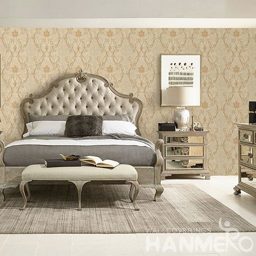 HANMERO Decorative Household Wall Wallcovering Manufacturer 0.53 * 10M Non-woven Embroidery Wallpaper Wholesale Trader from China