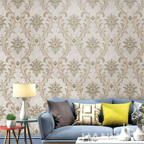 HANMERO Damask Hot Selling Classic Designs Wallpaper PVC Interior Wallcovering for Home Decoration from Chinese Supplier