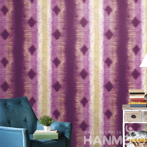 HANMERO PVC Sofa TV Background Decor Wallpaper in Modern Cozy Style 0.53 * 10M Stripes Pattern Wallcovering from China