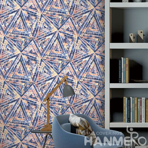 HANMERO Economical Colorful PVC 0.53 * 10M Wallpaper Modern Geometric Pattern on Sale from Chinese Factory Favorable Prices
