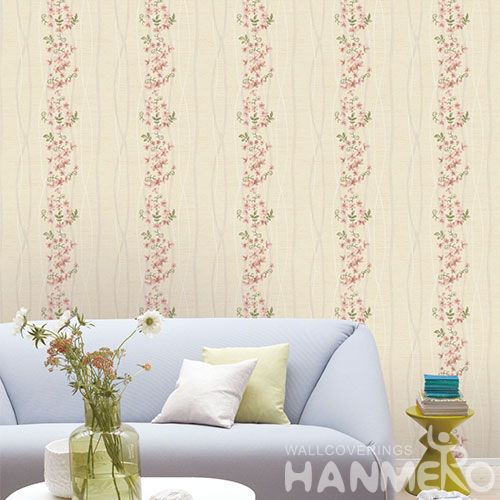 HANMERO Exported Affordable Office Household Pink Wallpaper Floral Pattern 0.53 * 10M Wallcovering from Chinese Factory