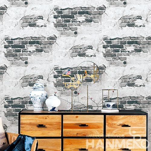 HANMERO High-end Affordable Grey 3D Bricks Pattern Wallpaper Latest for Household Decoration from Chinese Supplier