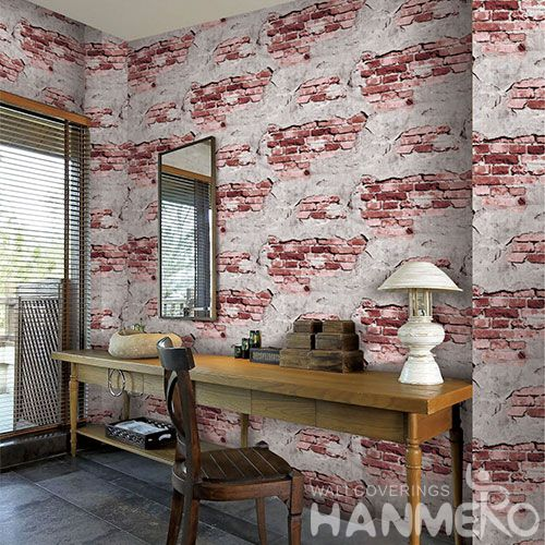 HANMERO High-end Top Quality Bed Room 3D Bricks Design Wallpaper for Wall Decoration from Chinese Wholesaler