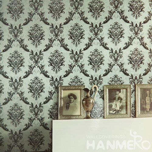 HANMERO PVC Strippable Bedding Room Decorating Wallpaper 0.53 * 10M Classic Wallcovering Professional Manufacturer