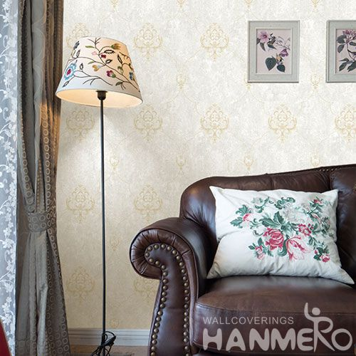HANMERO New Arrival Embossed European Damask PVC Wallpaper Manufacturer Wholesaler For Wall