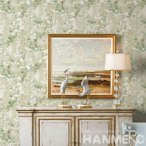 HANMERO New Arrival Embossed Modern Leaf PVC Wallpaper Manufacturer Wholesaler For Wall