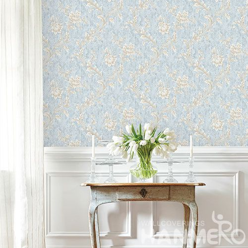 HANMERO New Arrival Embossed Pastoral Floral PVC Wallpaper Manufacturer Wholesaler For Wall