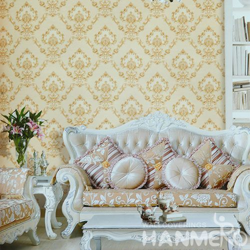 HANMERO Modern New Arrival Damask PVC 1.06M Wallpaper for Sofa Background Wall Design Wallcovering Chinese Dealer