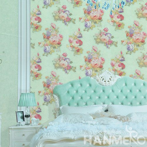 HANMERO Latest New Arrival Fancy Flowers PVC 1.06M Shop Wallpaper Rolls Bedroom House Decorative Top-grade Quality Best Prices