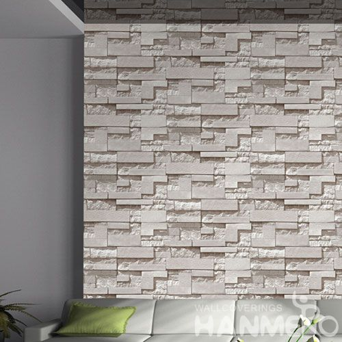 HANMERO Affordable Hot Sex PVC Decorative 3D Wallpaper Stone Pattern Household Room Wallcovering Best Prices Chinese Dealer