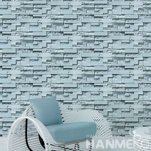HANMERO New Modern Style Wallcovering 0.53 * 10M PVC 3D Stone Interior Wall Decor Wallpaper for Children Room Factory Prices