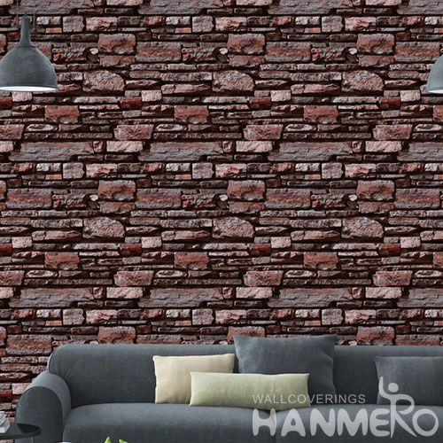 HANMERO Chinese Manufacture Modern Faux Stone PVC Wallpaper for Sofa TV Background Wholesale Prices with Unique Technology