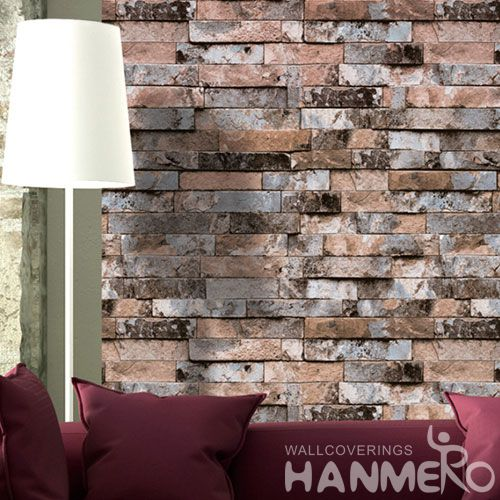 HANMERO Latest Decorative 0.53 * 10M Brick Design Wallpaper Distributor Offered by Professional Wallcovering Manufacturer