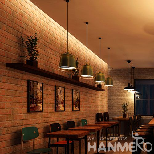 HANMERO CE Certificate PVC 0.53 * 10M Brick 3D Wallpaper Hot Selling for Home Interior Decor with Best Prices on Sale