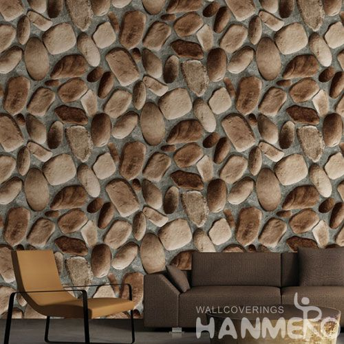 HANMERO PVC 0.53 * 10M Stone Design Decorative Buy 3D Wallpaper for Household Interior in Modern Style Best Prices