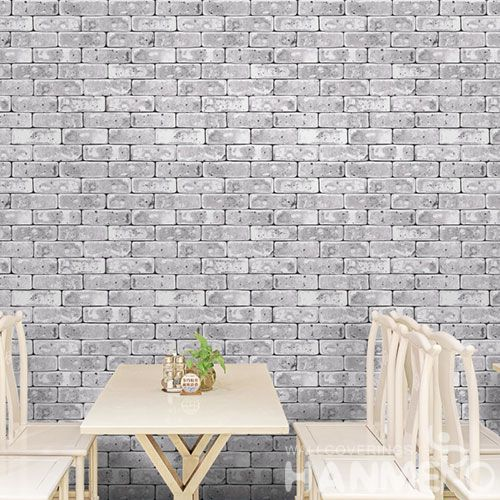 HANMERO Eco-friendly Washable Home Decoration Wallcovering 3D 0.53 * 10M PVC Stone Wallpaper for Walls High Quality