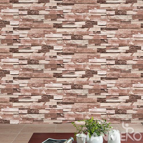 HANMERO Decorative Household Wall Wallcovering Manufacturer 3D 0.53 * 10M PVC Stone Design Wallpaper Wholesale Trader