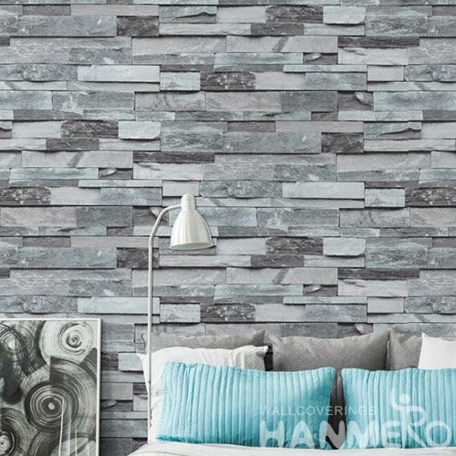 HANMERO Chinese Professional Home Contemporary Wallcovering PVC 3D Stone Wallpaper for Interior Household Wall