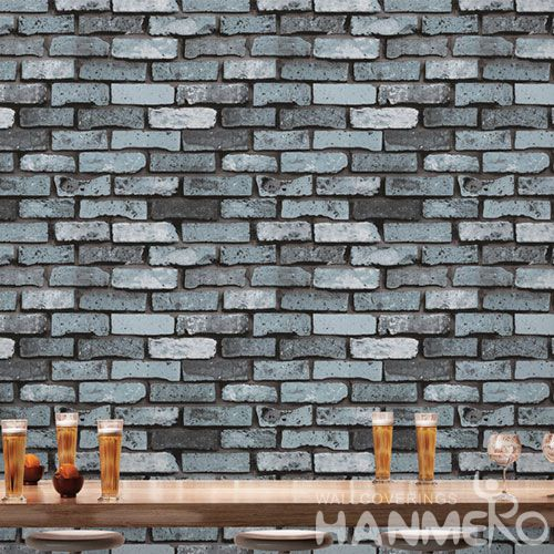 HANMERO Chinese 3D Removable Modern Classic PVC 0.53 * 10M Brick Textured Wallpaper for Cozy Home Decoration